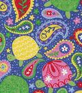 Snuggle Flannel Fabric -Paisley Turtles