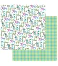 Photoplay Paper Mad 4 Plaid Happy 12\u0027\u0027x12\u0027\u0027 Double-Sided Cardstock-Dogs