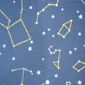 Silky Print Textured Fabric-Navy Constellations