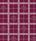 Texas A&M University Aggies Flannel Fabric 42\u0022-Plaid
