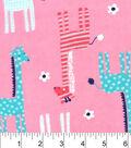 Snuggle Flannel Fabric 42\u0022-Patterned Giraffes