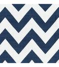 HGTV Home Upholstery Fabric-Chevron Chic/Navy