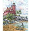 Eagle Harbor Light Counted Cross Stitch Kit-9\u0022X12\u0022 14 Count