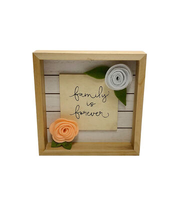 Simply Spring Wall Decor-Family is Forever on Natural