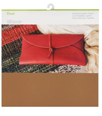 Cricut 12''x12'' Genuine Leather-Camel