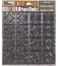 Architextures Adhesive Tin Tiles 5.7\u0022X5.7\u0022-Onyx