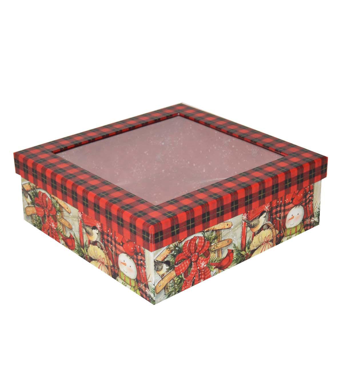 Christmas Medium Window Storage Box Beautiful Blessing