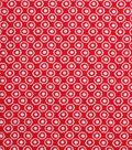 1930\u0027s Cotton Fabric 43\u0022-Floral Dot Red