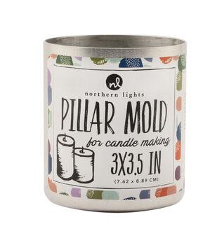 "Northern Lights Candle Making 3""x3.5"" Pillar Mold"