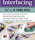 Make It Simpler Fusible Interfacing Roll 1.5\u0027\u0027x15 yds.