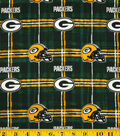 Green Bay Packers Flannel Fabric -Plaid