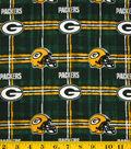 Green Bay Packers Flannel Fabric 42\u0027\u0027-Plaid