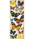K&Company 14 Pack Adhesive Chipboard Stickers-Natural Butterflies