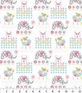 Nursery Flannel Fabric -Jungle Animals Square