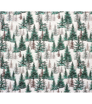 Super Snuggle Flannel Fabric-Evergreens