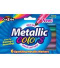 CraZart 6ct Sparkling Metallic Markers