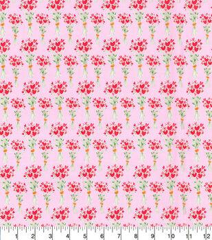 Valentine's Day Cotton Fabric-Heart Bouquets