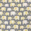 Blizzard Fleece Fabric-Yellow Elephants and Hearts