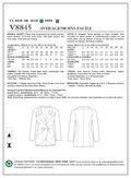 Mccall Pattern V8845 6-8-10-12--Vogue Pattern