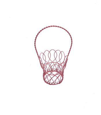 Easter 9'' Wire Basket-Pink