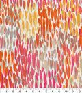 Kelly Ripa Home Outdoor Fabric 9\u0022x9\u0022 Swatch-Make It Rain Coral