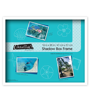 MCS Industries Collector's Museum Shadow Box Frame 16''x20''-Omega White