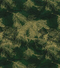 Christmas Cotton Fabric-Pine Branches Metallic