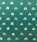 Knit Prints Rayon Spandex Fabric-Green Spaced Leaf