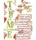 Stamperia Stencil D 7.87\u0027\u0027x5.91\u0027\u0027-Time is an Illusion