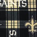 New Orleans Saints Fleece Fabric -Plaid