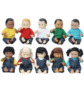 Marvel Education Multi-Ethnic School Dolls, Set of 10