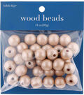 hildie & jo 14 oz. Wood Beads-Frosted Brown