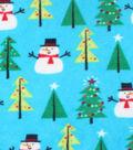 Anti-Pill Fleece Fabric 59\u0022-Bright Snowmen