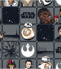 Star Wars: The Force Awakens Cotton Fabric 44\u0022-Heros in Squares