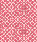 Home Essentials Lightweight Decor Fabric 45\u0022-Lovely Lattice Raspberry