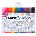 Rainbow -fabric Markers 10/pk