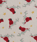 Christmas Cotton Fabric-Cardinals On Branches