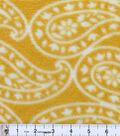 Anti-Pill Fleece Fabric 59\u0022-Summer Paisley Gold