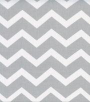 Keepsake Calico Cotton Fabric -Gray & White Chevron, , hi-res