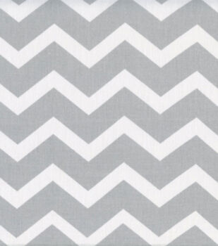 Keepsake Calico Cotton Fabric -Gray & White Chevron