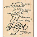 Penny Black Mounted Rubber Stamp Hope Is Born