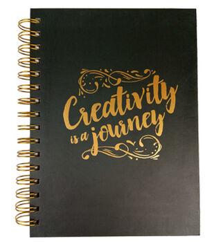 Park Lane 7.5''x9.5'' Spiral Notebook-Creativity is a Journey