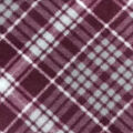 Anti-Pill Plush Fabric-Regal Wine & Gray Plaid