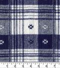 Plaiditudes Brushed Cotton Fabric 44\u0022-Southwest Navy