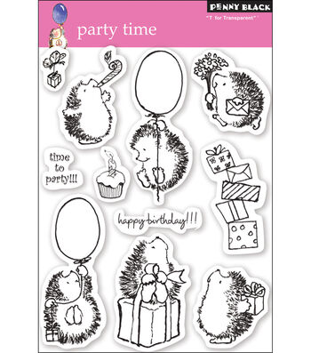 """Penny Black Clear Stamps 5""""X7.5"""" Sheet-Party Time"""