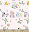 Family Owls Print Fabric