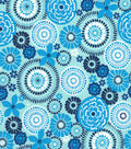 Quilter\u0027s Showcase Cotton Fabric -Multi Blue Floral Medallions