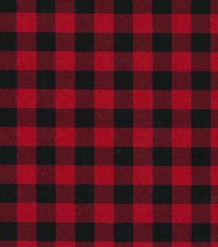 christmas cotton fabric red buffalo check - Christmas Plaid Fabric