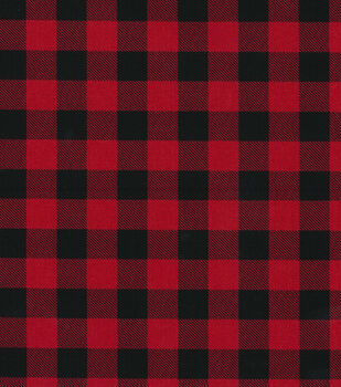 Christmas Cotton Fabric-Red & Black Buffalo Checks