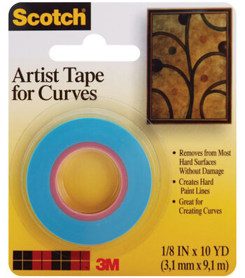 """Scotch Artist Tape For Curves-1/8""""X10 Yards"""